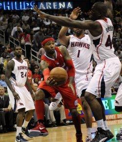 The Atlanta Hawks play the Los Angeles Clippers in Atlanta