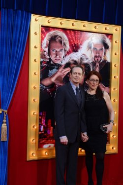 "Steve Buscemi and Jo Andres attend ""The Incredible Burt Wonderstone"" premiere in Los Angeles"
