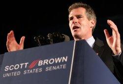 Scott Brown speaks after he wins Massachusetts special election for U.S. Senate.