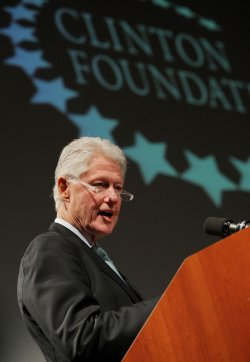 Former President Bill Clinton speaks at the Dayton Accords discussions held in New York