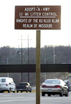 KKK signs installed