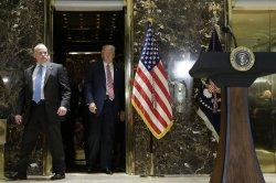 President Donald Trump speaks at Trump Tower in New York