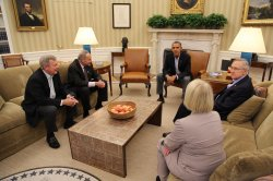 PRESIDENT OBAMA MEETS WITH DEMOCRATS IN THE WHITE HOUSE