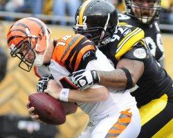 Steelers James Harrison Sacks Bengals QB Andy Dalton Pittsburgh