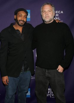 Jesse L. Martin and Vincent D'Onofrio arrives for at the Tribeca Film Festival in New York