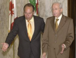 FORMER LEBANESE PM MEETS WITH LAHOUD