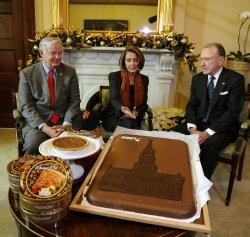 Rep. Barton, Sen. Specter settle World Series bets with Speaker Pelosi in Washington
