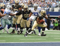 Dallas Cowboys and New Orleans Saints at Cowboys Stadium in Arlington, Texas