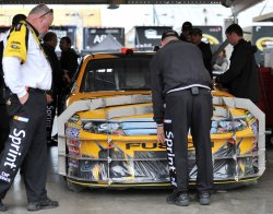 Inspectors check the nose before the Kobalt Tools 500 in Arizona.