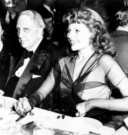 Publishing Magnate William Randolph Hearst with Rita Hayworth