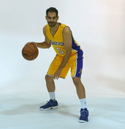 Jose Calderon participates in Lakers media day