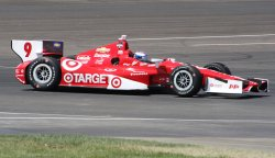 Scott Dixon sets fast time during practice for the inaugural Grand Prix of Indianapolis event at the Indianapolis Motor Speedway
