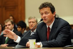 BP CEO Hayward testifies before House Committee on oil spill in Washington