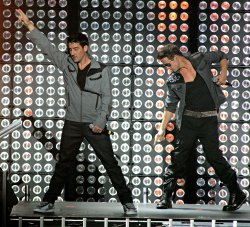 NKOTB perform in concert in Miami Beach