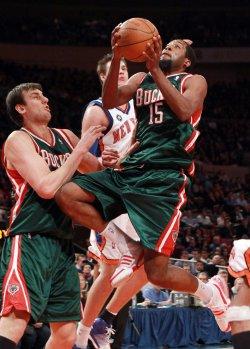 Milwaukee Bucks John Salmons at Madison Square Garden