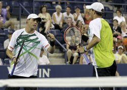Bob and Mike Bryan of the USA at the U.S. Open Tennis Championships in New York