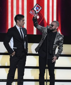 Latin Artist Chyno y Nacho at the 2016 Premios Tu Mundo Show