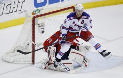 New York Rangers and Washington Capitals in Game 1 of NHL Eastern Conference Quarterfinals