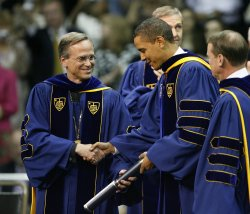 Obama Delivers Notre Dame Commencement Address in South Bend, Indiana
