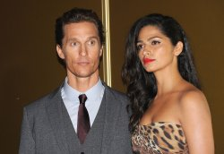 "Matthew McConaughey and Camila Alves attend the European premiere of ""Magic Mike"" in London"