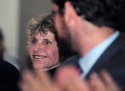 Victoria Kennedy accepts the Nansen Refugee Award on behalf of her husband Sen. Ted Kennedy in Washington