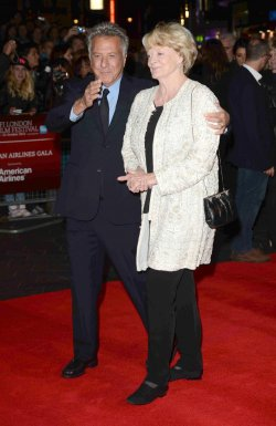 "Maggie Smith and Dustin Hoffman attend the Gala Screening of ""Quartet"" in London."