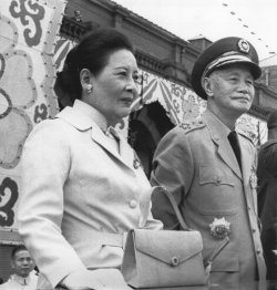 President and Madame Chiang Kai-shek commemorate the 59th anniversary of Nationalist China (Taiwan)