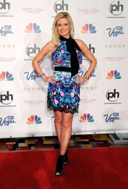 Holly Madison arrives at the 2013 Miss USA competition in Las Vegas