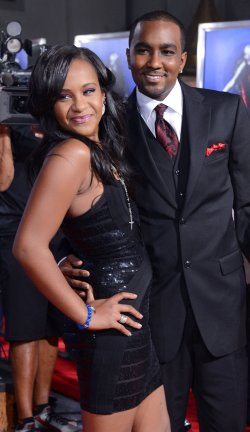 """Bobbi Kristina Brown and Nick Gordon attend the premiere of """"Sparkle"""" in Los Angeles"""