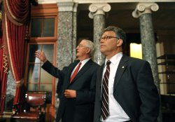 Al Franken sworn in on Capitol Hill in Washington