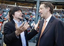 "Filmmaker Ken Burns promotes his new documentary ""The Tenth Inning"" in San Francisco"