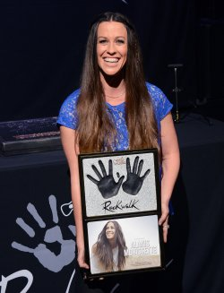 Alanis Morissette is inducted into Hollywood's RockWalk in Los Angeles