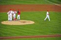 Nationals pitcher Sean Burnett is relieved in Washington