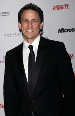 Seth Meyers arrives for the 38th International Emmy Awards in New York