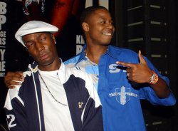 Grandmaster Flash attends Source Magazine Hip Hop party