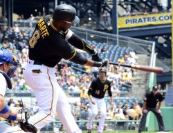 Pirates Starling Mart doubles in first inning against Dodgers