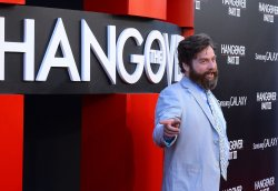 """Zach Galifianakis attends the premiere of """"The Hangover Part III"""" in Los Angeles"""