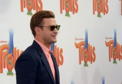 "Justin Timberlake attends the ""Trolls"" premiere in Los Angeles"