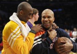 Los Angeles Lakers play Oklahoma City Thunder in Los Angeles