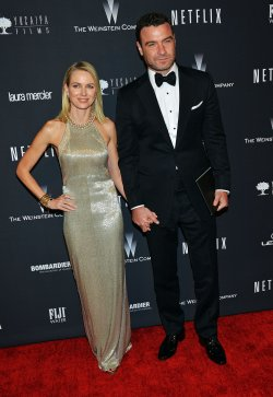 Naomi Watts and Liev Schreiber attend the Weinstein Company and Netflix 2014 Golden Globes After Party