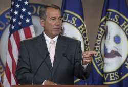 Speaker Boehner holds his weekly press conference in Wasington, D.C.