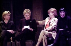 Senator Clinton discusses Off Broadway play Necessary Targets