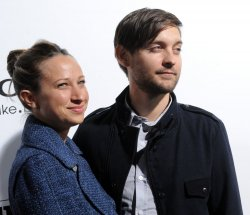 "Tobey Maguire and Jennifer Meyer arrive at the ""Country Strong"" screening in Beverly Hills"