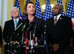 Speaker Pelosi speaks on the Democratic leadership for the 112th Congress in Washington