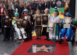 The Munchkins receive star on the Hollywood Walk of Fame in Los Angeles