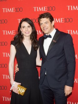 Lauren Schuker and Jason Blum arrive at the TIME 100 Gala in New York
