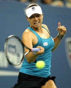 Sabine Lisicki and Vera Zvonareva compete at the U.S. Open in New York
