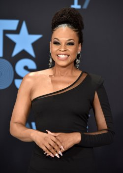 Demetria McKinney attends the annual BET Awards in Los Angeles