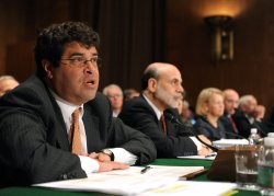 Neil Wolin, Mary Schapiro, Gary Gensler, John Walsh and Ben Bernanke testify on the Dodd-Frank Wall Street Reform Bill in Washington