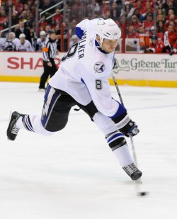 Lightning Walker takes a shot against Capitals in Washington